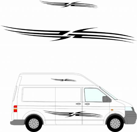 (No.151) MOTORHOME GRAPHICS STICKERS DECALS CAMPER VAN CARAVAN UNIVERSAL FITTING